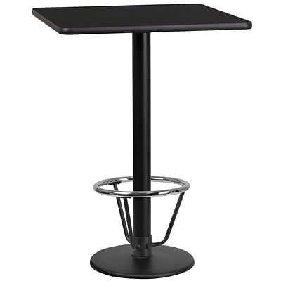 Flash Furniture Laminate 24 Square Table-Round Base Black (XUBK2424TR18B3F)