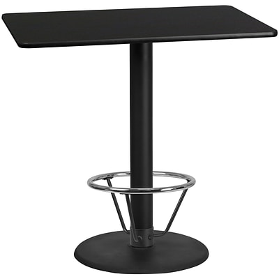 Flash Furniture Laminate 30W x 48L Table- Round Base Black (XUBK3048TR24B4F)