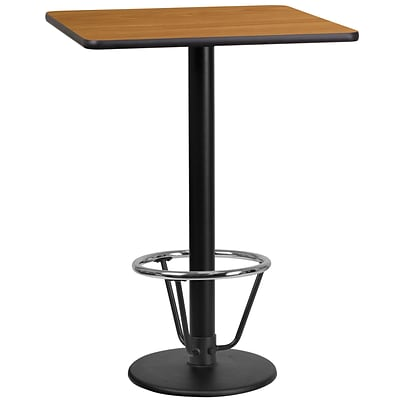 Flash Furniture Laminate 24 Square Table-Round Base Brown (XUNT2424TR18B3F)