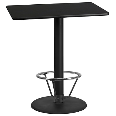 Flash Furniture Laminate 30W x 42L Table- Round Base Black (XUBK3042TR24B4F)