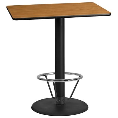 Flash Furniture Laminate 30W x 42L Table- Round Base Brown (XUNT3042TR24B4F)