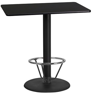 Flash Furniture Laminate 24W x 42L Table- Round Base Black (XUBK2442TR24B4F)