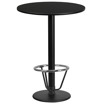 Flash Furniture Laminate 24 Round Laminate Table-Round Base Black (XURD24BKTR18B3F)
