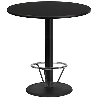 Flash Furniture Laminate 42 Round Table-Round Base Black (XURD42BKTR24B4F)
