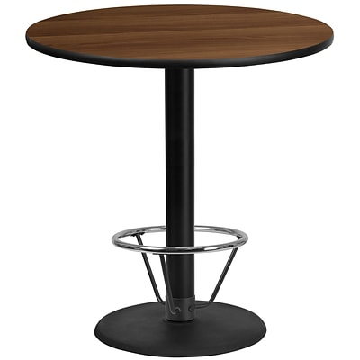 Flash Furniture Laminate 42 Table-Round Base Brown (XURD42WATR24B4F)