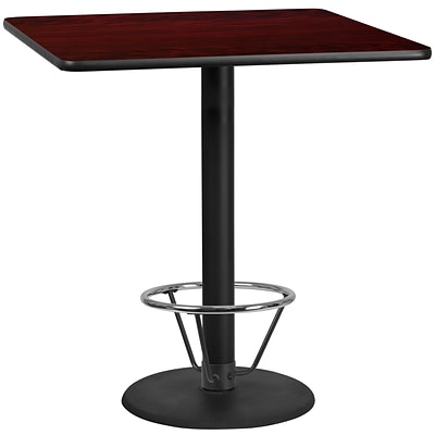 Flash Furniture Laminate 42 Square Table-Round Base Brown (XUMA4242TR24B4F)
