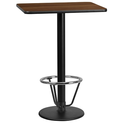Flash Furniture Laminate 24W x 30L Table- Round Base Brown (XUWA2430TR18B3F)