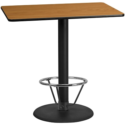 Flash Furniture Laminate 30W x 48L Table- Round Base Brown (XUNT3048TR24B4F)