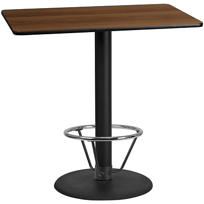 Flash Furniture Laminate 30W x 48L Table- Round Base Brown (XUWA3048TR24B4F)