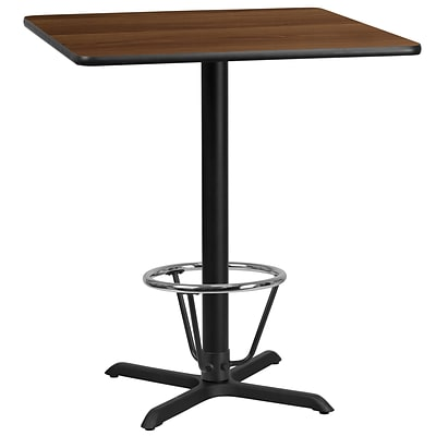 Flash Furniture Laminate 36 Square Table-X-Base Brown (XUWA3636T30B3F)