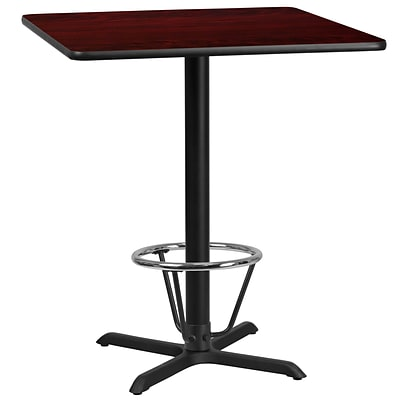 Flash Furniture Laminate 36 Square Table-X-Base Brown (XUMA3636T30B3F)