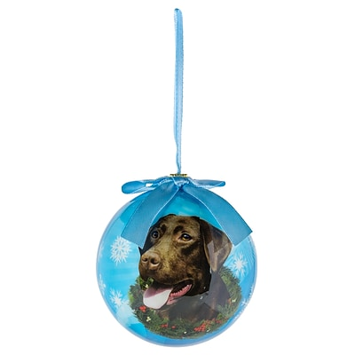 CueCuePet Christmas Tree Ornaments Blue Ball, Dog Collection Labrador (ORNDOG011)