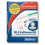 TaxRight W2 with self-seal envelopes and software with 5 Free EFILE, 4-Part for 25 Employees (SC5645