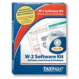 TaxRight W2 with self-seal envelopes and software with 5 free EFILE, 6-Part for 25 Employees (SC5650