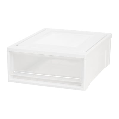 IRIS® Shallow Box Chest Drawer, White, 4 Pack (591059)