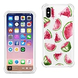 iPhone X Ink Painting Watermelon Design Air Cushion Case In Clear (TPU092-IPH8WTCL)