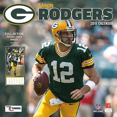 Green Bay Packers Aaron Rodgers 2018 12 x 12 Player Wall Calendar (18998011783)