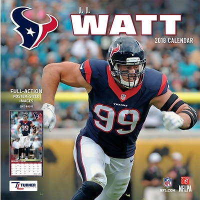 Houston Texans J.J. Watt 2018 12 x 12 Player Wall Calendar (18998011787)