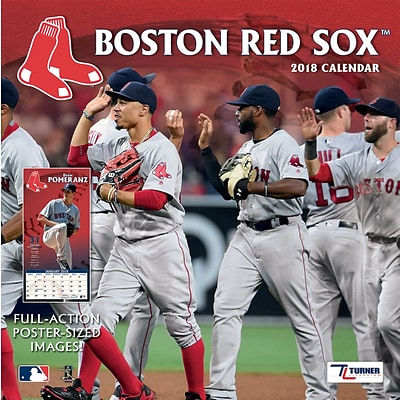 Boston Red Sox 2018 12X12 Team Wall Calendar (18998011843)