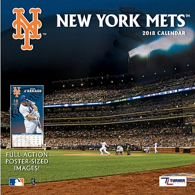 New York Mets 2018 12 x 12 Team Wall Calendar (18998011856)
