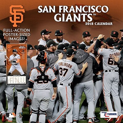San Francisco Giants 2018 12 x 12 Team Wall Calendar (18998011862)
