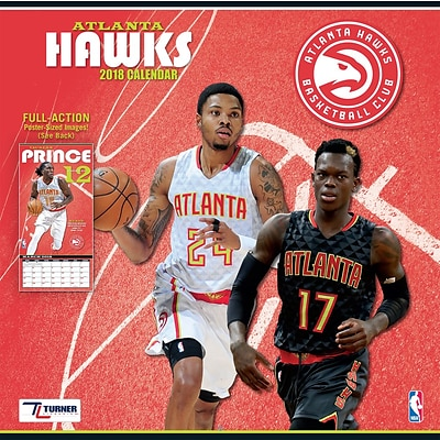 Atlanta Hawks 2018 12 x 12 Team Wall Calendar (18998011869)