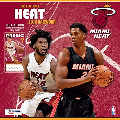 Miami Heat 2018 12 x 12 Team Wall Calendar (18998011884)