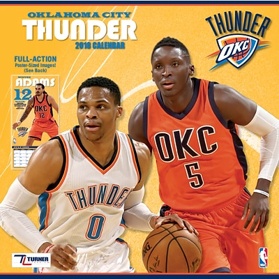 Oklahoma City Thunder 2018 12 x 12 Team Wall Calendar (18998011889)