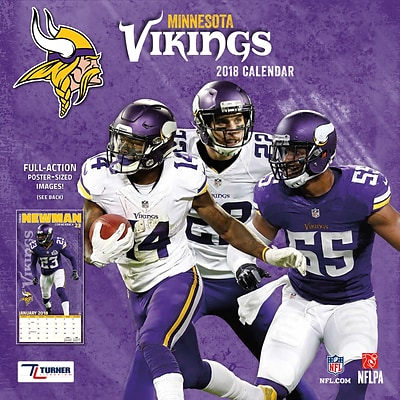 Minnesota Vikings 2018 12 x 12 Team Wall Calendar (18998011916)