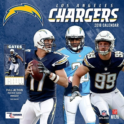 Los Angeles Chargers 2018 12 x 12 Team Wall Calendar (18998011924)