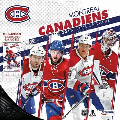 Montreal Canadians Carey Price - Bilingual French/English 2018 12 x 12 Player Wall Calendar (18998012098)