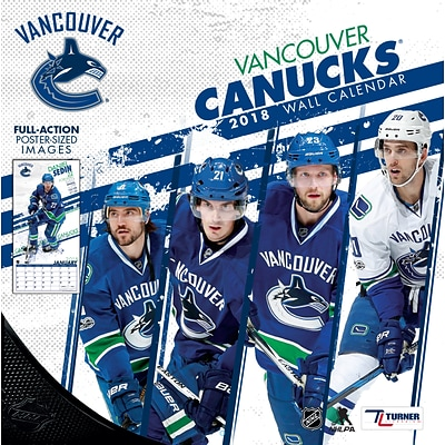 Vancouver Canucks 2018 12 x 12 Team Wall Calendar (18998011958)