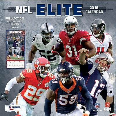 Nfl Elite 2018 12X12 Wall Calendar (18998011970)