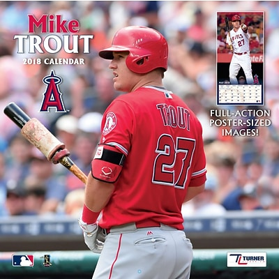 Angels Mike Trout 2018 12 x 12 Player Wall Calendar (18998011980)