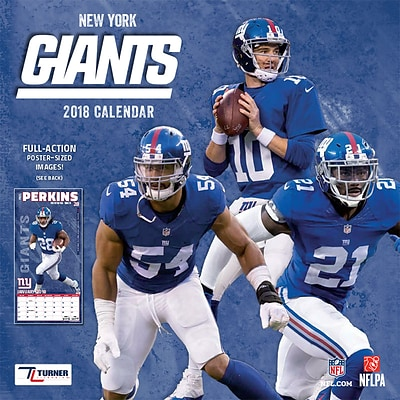 New York Giants 2018 Mini Wall Calendar (18998040571)