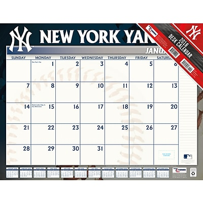 New York Yankees 2018 22X17 Desk Calendar (18998061512)