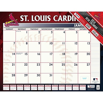 St Louis Cardinals 2018 22 x 17 Desk Calendar (18998061518)