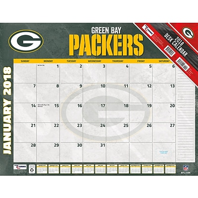 Green Bay Packers 2018 22 x 17 Desk Calendar (18998061537)