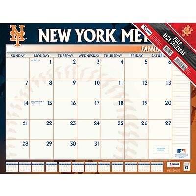 New York Mets 2018 22 x 17 Desk Calendar (18998061566)