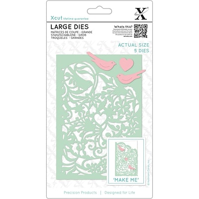 Docrafts Xcut Decorative Dies Large, 5/Pkg (XC503317)
