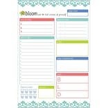 Bloom Daily Planners Teal Daily Planning System Pad, 6 x 9 (MNRCYN)