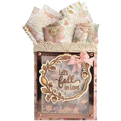 Sizzix Lets Fall In Love Framelits Die & Stamp Set By Lindsey Serata, 7/Pkg (662273)