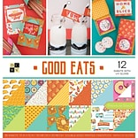 American Crafts Good Eats, 12 With UV Gloss DCWV Double-Sided Paper Stack, 12 X 12, 36/Pkg (PS0055