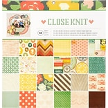 American Crafts Close Knit Single-Sided Paper Pad, 12 X 12, 48/Pkg (341848)