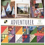 American Crafts Adventurer, 12 W/Copper Foil DCWV Double-Sided Paper Stack, 12 X 12, 36/Pkg (PS005