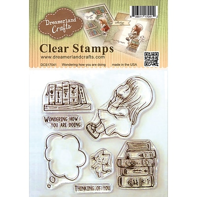 Dreamerland Crafts Wondering How You Are Doing Clear Stamp Set, 4 X 4 (DCS17041)