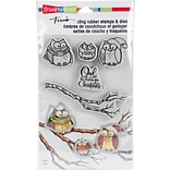 Stampendous Owl Be Home Cling Stamp & Die Set 9X5.25 (CLD10)