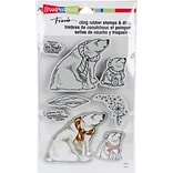 Stampendous Polar Bears Cling Stamp & Die Set 9X5.25 (CLD07)