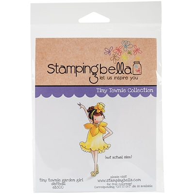 Stamping Bella Garden Girl Daffodil Tiny Townie Cling Stamp, 6.5 X 4.5 (EB500)