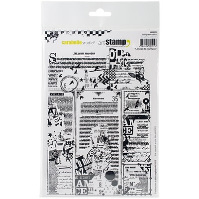Carabelle Studio Collage Of Newspapers Cling Stamp A5 (SA50020)